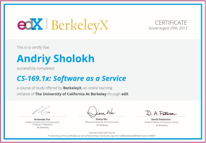 AndriiSholokh_BerkleysX_SoftwareAsAService