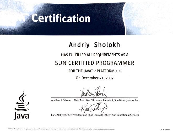 Sun Java 1.4 Certified Programmer
